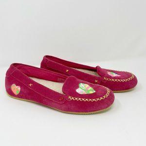 Ugg I Heart Belle Paint Splatter Loafers Pink Sz 6